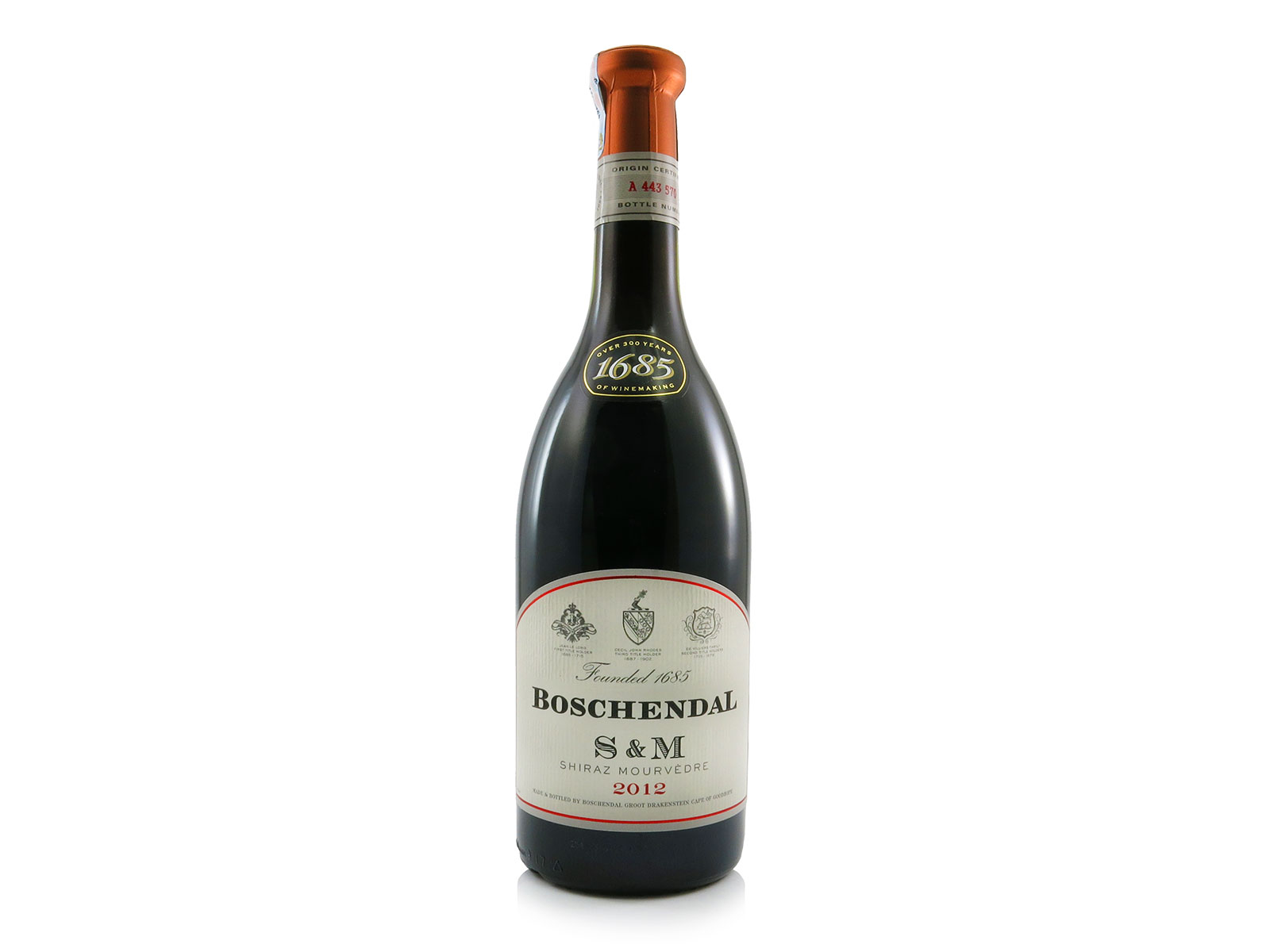Boschendal s m shiraz mourvedre the winery for Boschendal wine